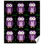 Halloween purple owls pattern Canvas 8  x 10  10.02 x8 Canvas - 1