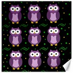 Halloween purple owls pattern Canvas 12  x 12   12 x12 Canvas - 1