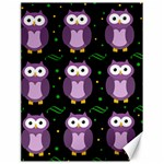 Halloween purple owls pattern Canvas 18  x 24   24 x18 Canvas - 1