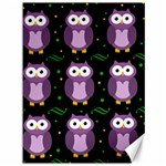 Halloween purple owls pattern Canvas 36  x 48   48 x36 Canvas - 1