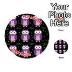Halloween purple owls pattern Playing Cards 54 (Round)  Front - Joker2