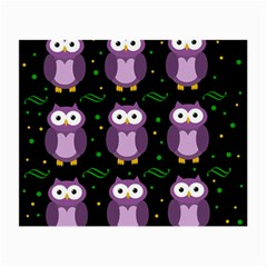 Halloween Purple Owls Pattern Small Glasses Cloth (2 Side)