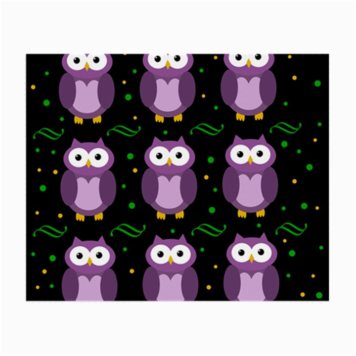 Halloween purple owls pattern Small Glasses Cloth (2-Side)