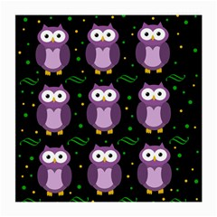 Halloween Purple Owls Pattern Medium Glasses Cloth (2 Side)