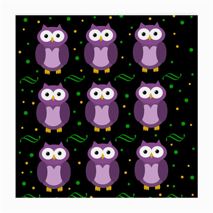 Halloween purple owls pattern Medium Glasses Cloth (2-Side)