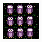 Halloween purple owls pattern Medium Glasses Cloth (2-Side) Back