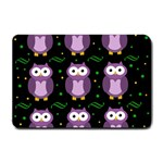 Halloween purple owls pattern Small Doormat  24 x16 Door Mat - 1