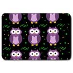 Halloween purple owls pattern Large Doormat  30 x20 Door Mat - 1