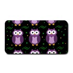 Halloween purple owls pattern Medium Bar Mats 16 x8.5 Bar Mat - 1