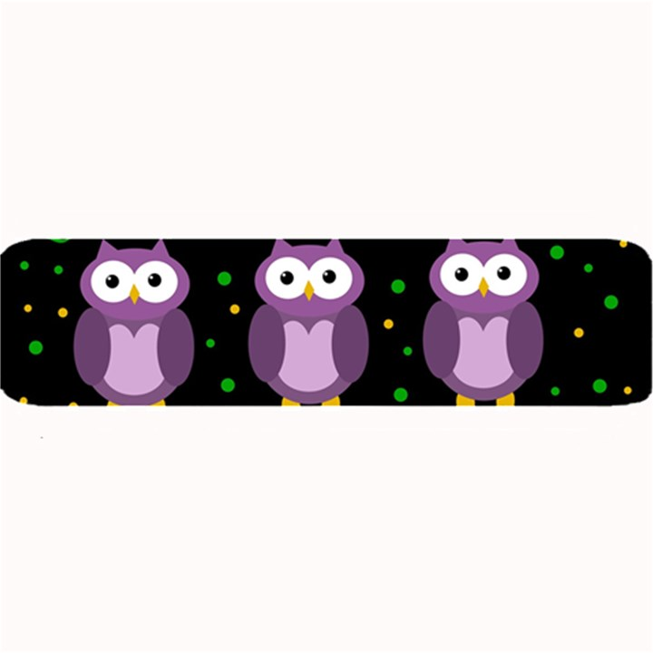 Halloween purple owls pattern Large Bar Mats