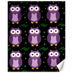 Halloween purple owls pattern Canvas 11  x 14   14 x11 Canvas - 1