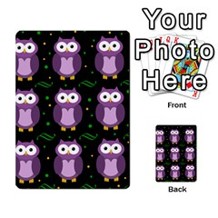 Halloween Purple Owls Pattern Multi Purpose Cards (rectangle)