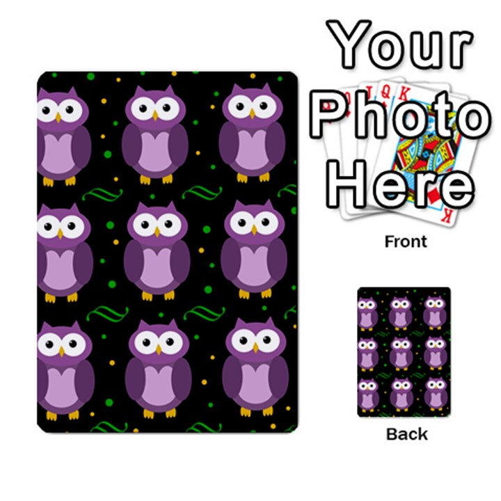 Halloween purple owls pattern Multi-purpose Cards (Rectangle)