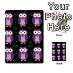 Halloween purple owls pattern Multi-purpose Cards (Rectangle)  Back 3