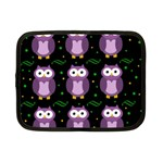 Halloween purple owls pattern Netbook Case (Small)  Front