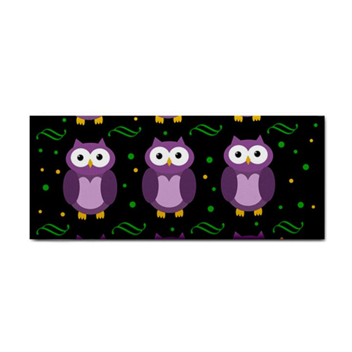 Halloween purple owls pattern Hand Towel