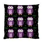 Halloween purple owls pattern Standard Cushion Case (One Side) Front