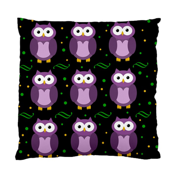 Halloween purple owls pattern Standard Cushion Case (One Side)