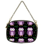 Halloween purple owls pattern Chain Purses (Two Sides)  Back