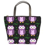 Halloween purple owls pattern Bucket Bags Front