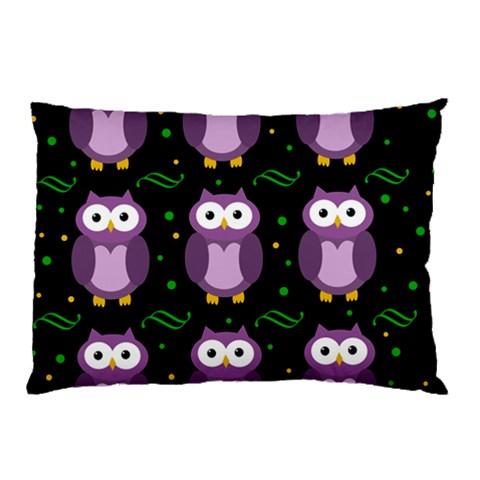 Halloween purple owls pattern Pillow Case