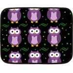 Halloween purple owls pattern Fleece Blanket (Mini) 35 x27 Blanket