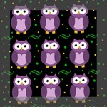 Halloween purple owls pattern Mini Canvas 8  x 8  8  x 8  x 0.875  Stretched Canvas