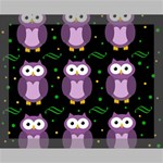 Halloween purple owls pattern Canvas 14  x 11  14  x 11  x 0.875  Stretched Canvas
