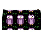 Halloween purple owls pattern Pencil Cases Back