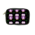 Halloween purple owls pattern Coin Purse Front