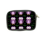 Halloween purple owls pattern Coin Purse Back