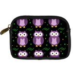 Halloween purple owls pattern Digital Camera Cases Front