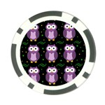 Halloween purple owls pattern Poker Chip Card Guards (10 pack)  Front