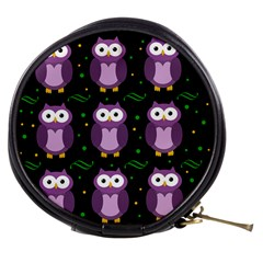 Halloween Purple Owls Pattern Mini Makeup Bags