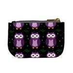 Halloween purple owls pattern Mini Coin Purses Back