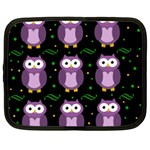 Halloween purple owls pattern Netbook Case (XL)  Front