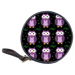 Halloween Purple Owls Pattern Classic 20 Cd Wallets