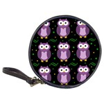 Halloween purple owls pattern Classic 20-CD Wallets Front