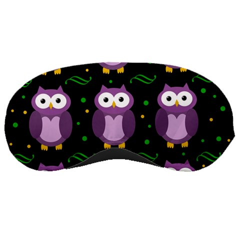 Halloween purple owls pattern Sleeping Masks