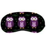 Halloween purple owls pattern Sleeping Masks Front