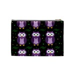 Halloween purple owls pattern Cosmetic Bag (Medium)  Back