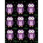 Halloween purple owls pattern Large Memo Pads 4.125 x5.5  Memopad