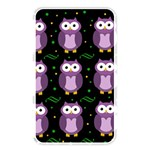 Halloween purple owls pattern Memory Card Reader Front