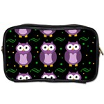 Halloween purple owls pattern Toiletries Bags Front
