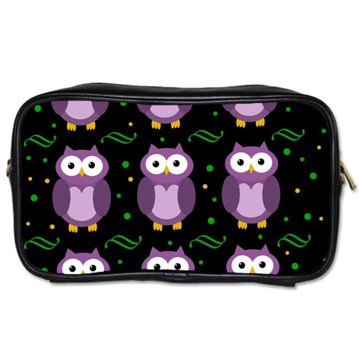 Halloween purple owls pattern Toiletries Bags