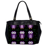 Halloween purple owls pattern Office Handbags Front