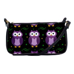 Halloween Purple Owls Pattern Shoulder Clutch Bags