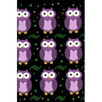 Halloween purple owls pattern 5.5  x 8.5  Notebooks Back Cover
