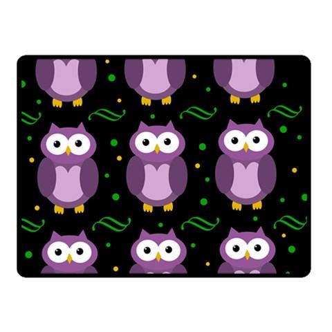 Halloween purple owls pattern Fleece Blanket (Small)