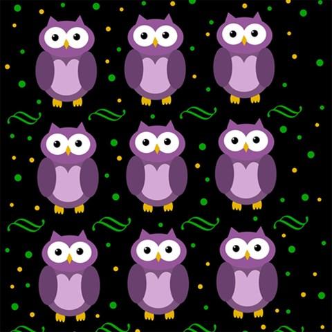 Halloween purple owls pattern Magic Photo Cubes